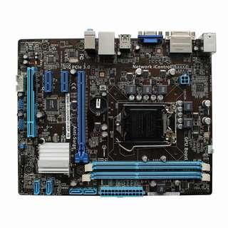 🚚 華碩P8H61-M LX2/CM6731-8/DP_MB主機板、1155腳位、PCI-E、DDR3 RAM、附檔板