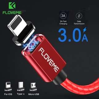 Authentic FLOVEME 3A Magnetic Data Sync Cable. Fast Charging support