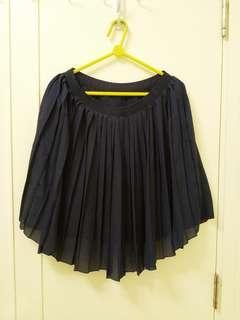 Uniqlo 藍色百摺裙