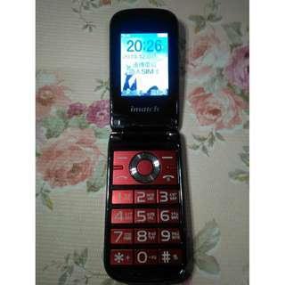 🚚 imatch M12摺疊式3G雙螢幕手機(老人機) 3G 4G 皆可用,大鈴聲 大按鍵 大字幕,功能都正常,只賣700元