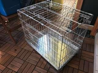Stainless steel crate, cage for dog, cat or pet