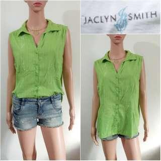 (XL) Jaclyn Smith green sleeveless top