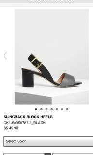 Charles and Keith sling backs 37