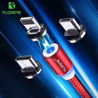 FLOVEME authentic 2A USB magnetic cable available in Micro/TypeC/lightning for iPhone