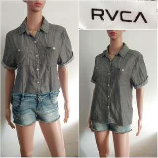 (S-M) RVCA gray cotton top