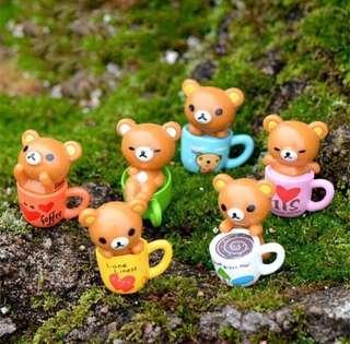 Terrarium Accessories / Miniature Rilakkuma / Rilakkuma Figurines / Terrarium Figurines / Rilakkuma Cake Topper / Rilakkuma Cake Decor / Terrarium Animal /Terrarium Bear