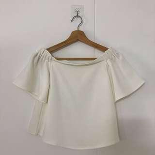 TEM White off shoulder top