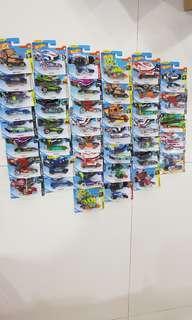 Assorted Hot Wheels cars