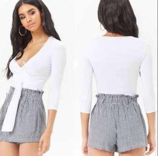 Forever 21 Ribbed Wrap Top
