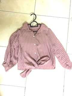 Dusty Pink Tied Top