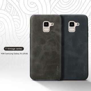 🚚 Samsung J6 2018 Vintage Leather Case Full Coverage Casing