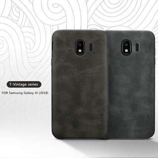 🚚 Samsung J4 2018 Vintage Leather Case Full Coverage Casing
