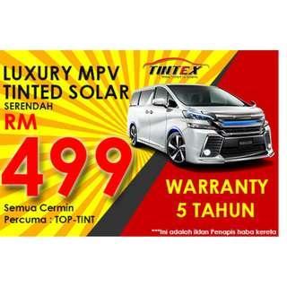 Tinted Solar Toyota Vellfire 6 cermin