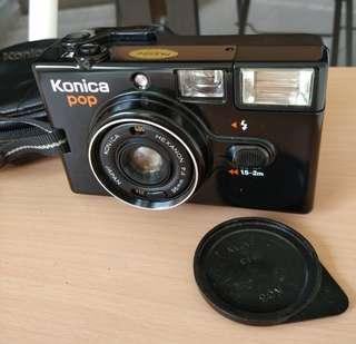 Vintage Japan konica pop f4 36mm black flash lomo photography