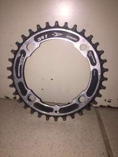 Narrow wide chainring 34t