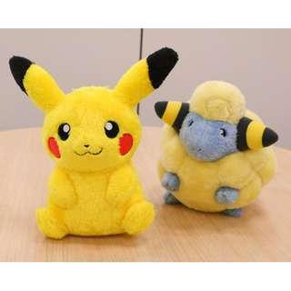 Dec Banpresto Prize Pokemon Pikachu / Mareep plush (Pre-Order)