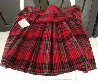 Red checkered short skirt Japanese student scottish