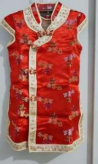 Dress ciongsam merah like new 😍