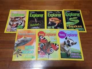 National Geographic young explorer and explorer magazines