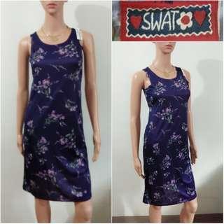(S) SWAT violet floral dress