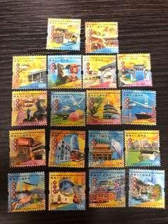 香港十八區特色郵票