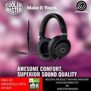 Cooler Master MH751 2.0 Gaming Headset with Plush, Swiveled Earcups, 40mm Neodymium Drivers, and Omni-Directional Boom Mic for PC, PS4, and Xbox