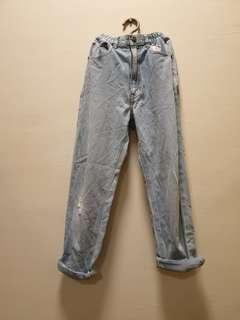 Trendy Ripped Mom Jeans