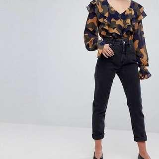 Brand new with tag monki mom jeans black uk 6 xs