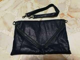 Clutch/hand bag (dark blue) - Free mailing with bless