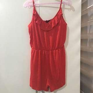Cotton on frilled playsuit romper bnwt