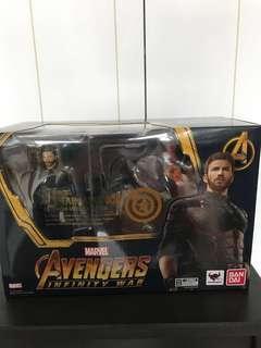 BNIB shfiguarts Captain America Infinity War with Explosions effect
