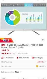 HP V320 31.5 Inch Monitor TV