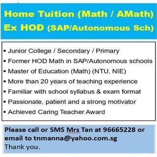 Math (ex-HOD SAP/Autonomous school)