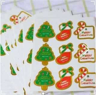 Merry Christmas seal stickers