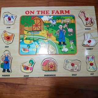 22 pieces Wooden Puzzles