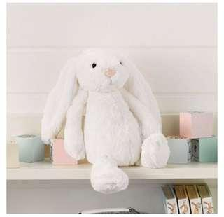 Jellycat White Cream Bashful Bunny in Medium