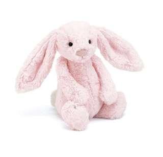 Jellycat Raspberry Pink Bashful Bunny in Medium