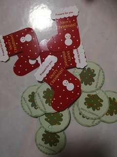 Christmas gift tag 15 pcs mix and match