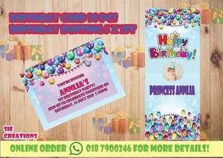 Birthday bunting & Birthday card