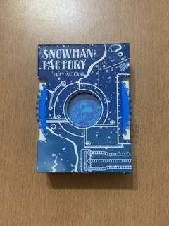 🚚 Snowman Factory Playing Cards