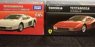 Tomica premium 06 Ferrari testarossa 初回加常品一對 完整包膠