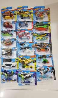 Assorted Hot Wheels cars