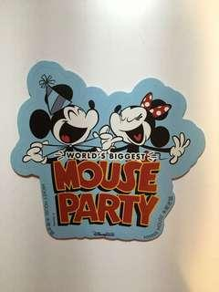 米奇生日派對貼紙 Mickey mouse party sticker