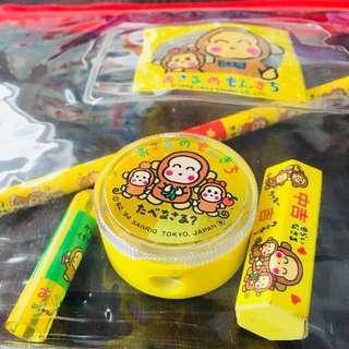 Sanrio 馬騮仔文具套裝(絕版中古品)