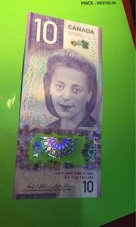 加拿大新版鈔票$10
