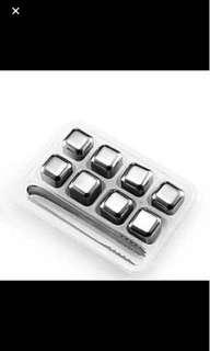 Whisky Stones (Stainless Steel) - 8 pc