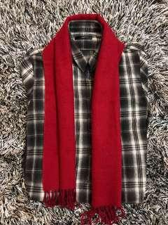🎁 Red Flannel scarf - Unisex