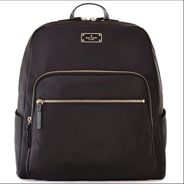 reputable site ecc51 34268 [95% New] Authentic Kate Spade Large Hilo Blake Avenue Laptop Backpack Bag  (BLACK)