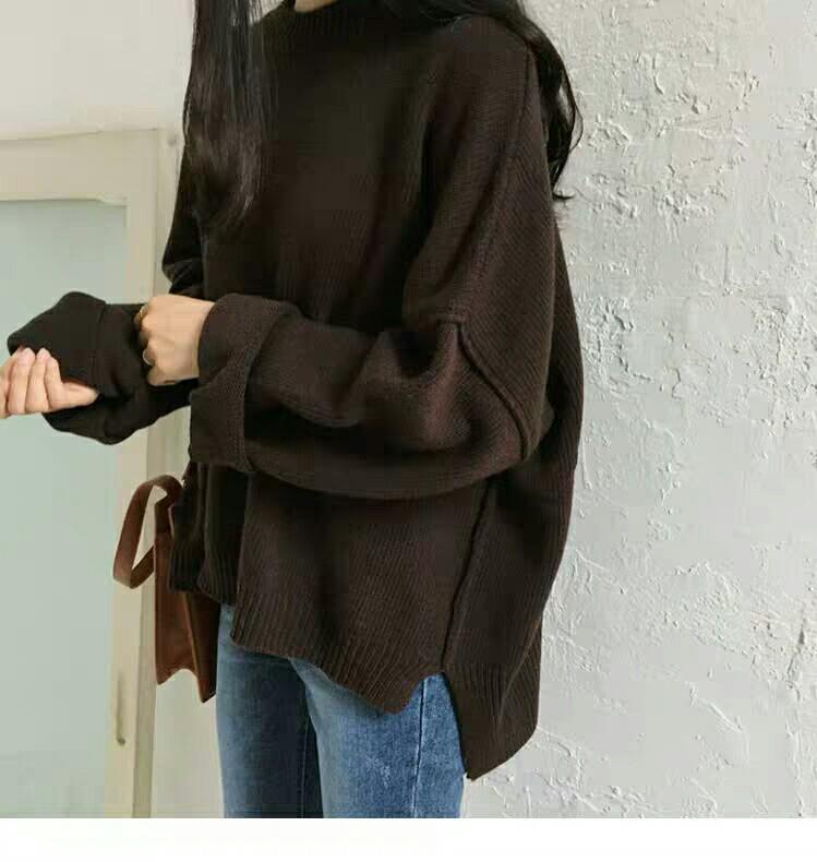 秋冬女装新款韩版复古慵 針織 衫(全新)