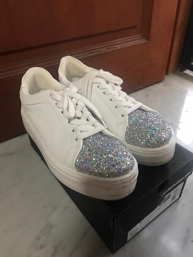 57f991a3de77 ASOS Platform Glitter White sneakers (made in italy)